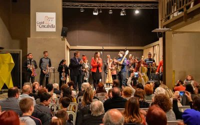 06/01/2019  Un concert amb instruments reciclats omple de públic el Castell de Concabella