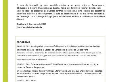 05/10/2019 Espais Escrits: Manuel de Pedrolo a Concabella