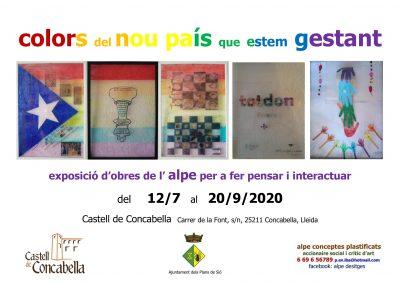 12/07/2020 Exposició 'Colors del nou país que estem gestant'