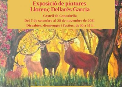 31-08-2021 Exposició de pintures de Llorenç Dellarés Garcia