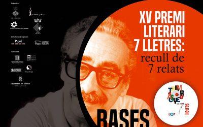 10/07/2020 S'ajorna l'acte de lliurament del XV Premi Literari 7Lletres