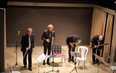 8/10/2021 El públic torna a omplir la sala del Castell per escoltar el Quartet Amoenus